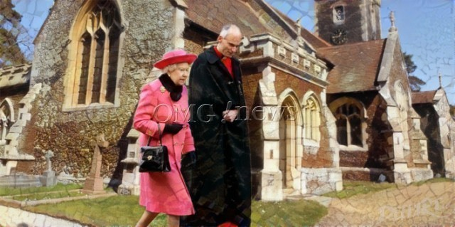 Fake News Frenzy - Is the Queen Dead or Not - walking healthily towards the church