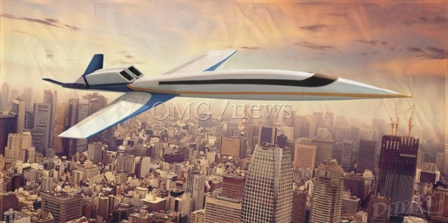 Fantasy planes of the Future - Windowless Supersonic Jet