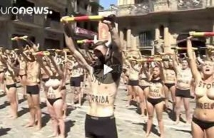 OMG! Naked Protest Ahead of Pamplona's Running of the Bulls