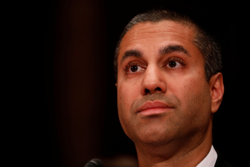 Ajit Pai, Chairman of the Federal Communications Commission, testifies before a Senate Appropriations Financial Services and General Government Subcommittee on Capitol Hill in Washington