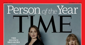 Ashley Judd, Susan Fowler, Adama Iwu, Taylor Swift, and Isabel Pascual (a pseudonym) are pictured on the Time magazine Person of the Year cover for 2017 in this handout photo
