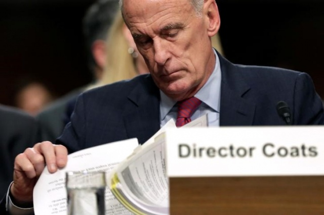 Director of National Intelligence Dan Coats testifies before the Senate Armed Services Committee