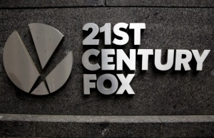 The 21st Century Fox logo is seen outside the News Corporation headquarters in New York