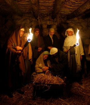 Israeli Arabs perform nativity scene in Nazareth