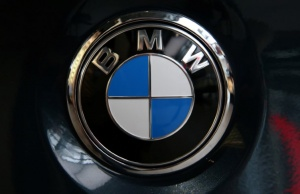 The logo of BMW before the company's annual news conference in Munich