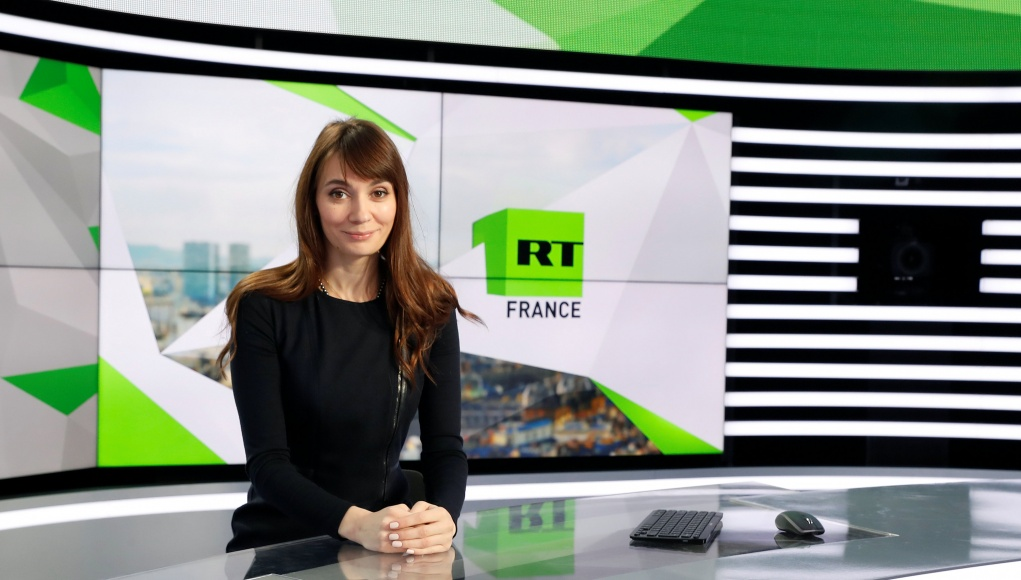 Xenia Fedorova, chief executive of RT France, of the Russian state broadcaster RT, formerly known as