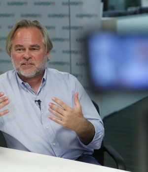 Kaspersky, Chief Executive of Russia's Kaspersky Lab, speaks during an interview in Moscow