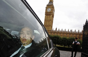 Mark Sedwill leaves the Houses of Parliament after giving evidence at a Commons Home Affairs Select Committee hearing in London