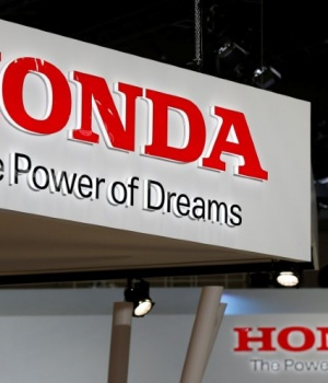 The logos of Honda Motor Co. is pictured at the 45th Tokyo Motor Show in Tokyo
