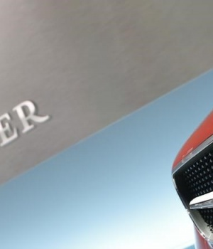 The Mercedes logo is pictured before the annual news conference of Daimler AG in Stuttgart