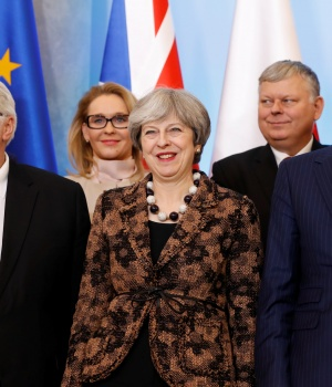 British PM Theresa May visits Poland
