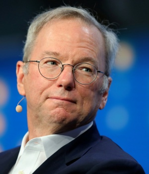 Alphabet's Executive Chairman Eric Schmidt looks on during the Milken Institute Global Conference in Beverly Hills