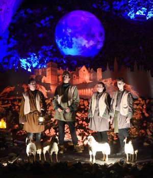 Actors perform the real-life Nativity biblical scenes in Postojna cave, in Postojna