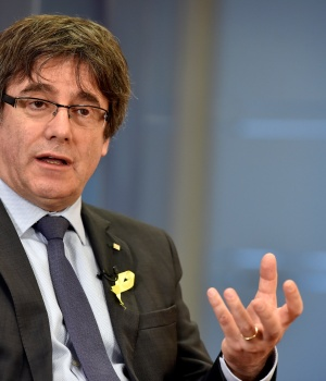 Former Catalan president Puigdemont attends an interview with Reuters in Brussels