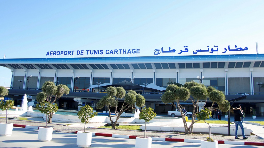 A general view shows Tunis-Carthage International Airport in Tunis