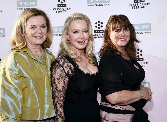 Cast members Heather Menzies-Urich, Kym Karath and Debbie Turner pose during 50th anniversary screening of musical drama film