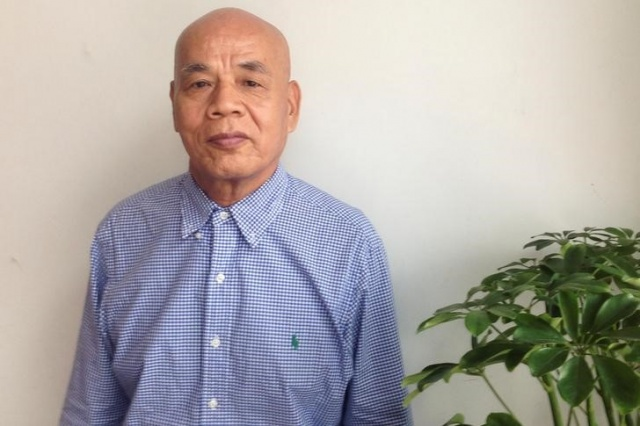 Xu Xiaoshun, the father of activism blogger Wu Gan, who was detained in what is known as the