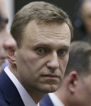 Russian opposition leader Alexei Navalny submits his documents to be registered as a presidential candidate at the Central Election Commission in Moscow