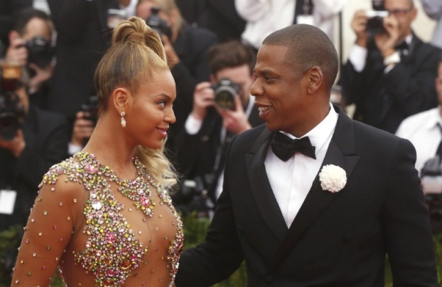 Beyonce arrives with husband Jay-Z at the Metropolitan Museum of Art Costume Institute Gala 2015 celebrating the opening of