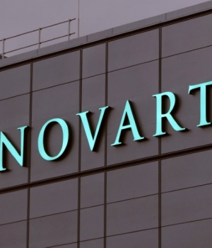 Swiss drugmaker Novartis' logo is seen in Stein