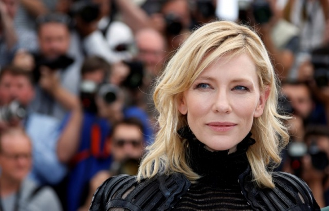 Cast member Cate Blanchett poses during a photocall for the film
