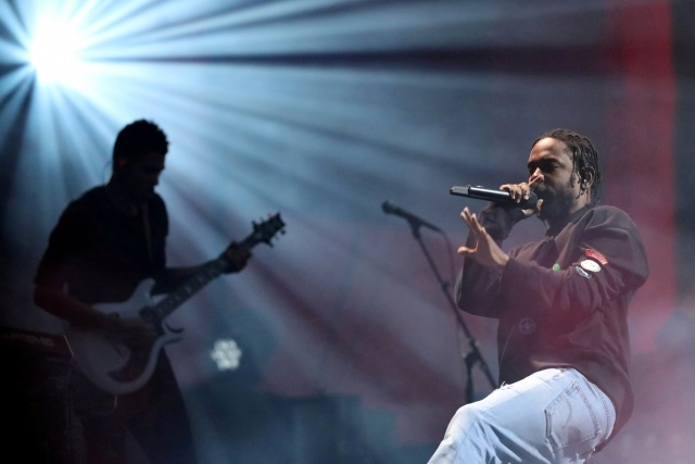 Kendrick Lamar performs at the Global Citizen Festival at Central Park in Manhattan