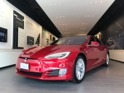 A Tesla Model S car is seen in a showroom in Santa Monica