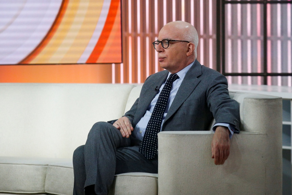 "Author Michael Wolff is seen on the set of NBC's 'Today' show prior to an interview about his book ""Fire and Fury: Inside the Trump White House"" in New York"