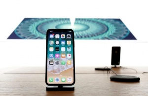The new iPhone X is pictured at the Apple Store Marche Saint-Germain in Paris