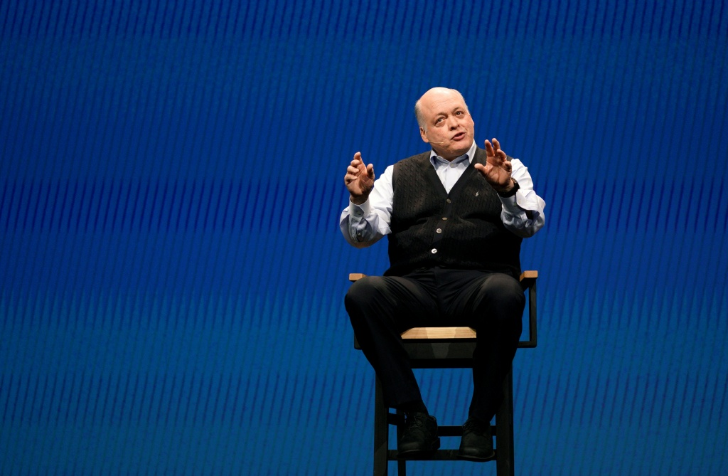 Jim Hackett, CEO of Ford Motor Company, speaks at CES in Las Vegas