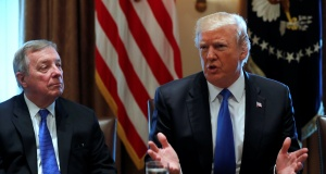 Trump holds a bipartisan meeting with legislators on immigration reform at the White House in Washington