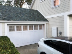 Tesla's electric car, Powerwall and solar roof are shown in Los Angeles