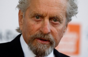 Actor Michael Douglas arrives for the Chaplin Awards at the Film Society of Lincoln Center in the Manhattan borough of New York
