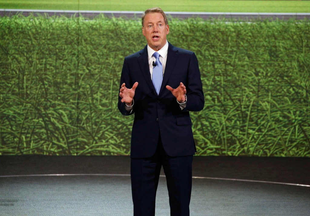 Bill Ford, executive chairman of the Ford Motor Company speaks at the Ford press preview at the North American International Auto Show in Detroit