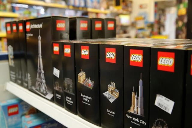 Sets of Lego bricks are seen at a toy store in Bonn