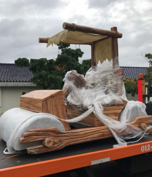 A vehicle replicating the Flintstones car given to Sultan Ibrahim Sultan Iskandar of Johor