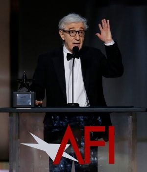 Director Woody Allen speaks on stage at the 2017 American Film Institute Life Achievement Award Show in Los Angeles