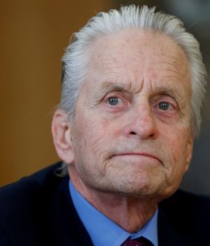 U.S. actor and U.N. Messenger for Peace Douglas attends a news conference in Geneva
