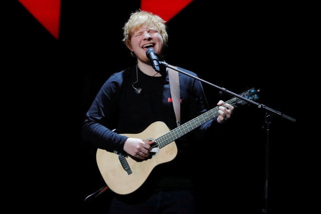 Ed Sheeran performs during the 2017 Jingle Ball at Madison Square Garden in New York