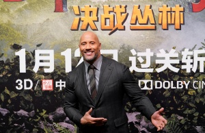 "Cast member Johnson attends a news conference promoting ""Jumanji: Welcome to the Jungle"" in Beijing"