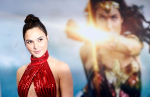 """Cast member Gadot poses at the premiere of """"Wonder Woman"""" in Los Angeles"""