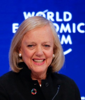 Meg Whitman, President and Chief Executive Officer, Hewlett Packard Enterprise, attends the annual meeting of the World Economic Forum (WEF) in Davos