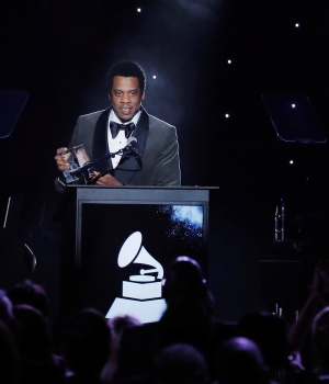 "Shawn ""JAY-Z"" Carter speaks after being honored during the 2018 Pre-GRAMMY Gala & GRAMMY Salute to Industry Icons presented by Clive Davis and The Recording Academy honoring Shawn ""JAY-Z"" Carter in Manhattan, New York"