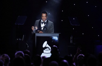 """Shawn """"JAY-Z"""" Carter speaks after being honored during the 2018 Pre-GRAMMY Gala & GRAMMY Salute to Industry Icons presented by Clive Davis and The Recording Academy honoring Shawn """"JAY-Z"""" Carter in Manhattan, New York"""