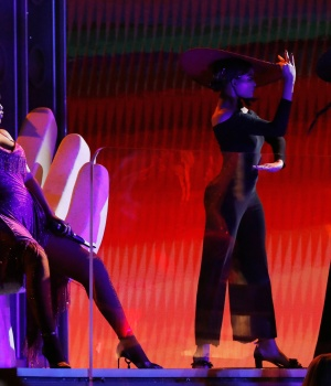 "60th Annual Grammy Awards – Show – New York, U.S., 28/01/2018 – Rihanna performs ""Wild Thoughts."