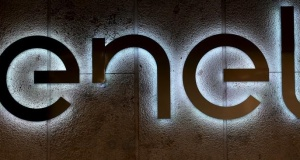 he logo of Italy's biggest utility Enel is seen at the Rome headquarters