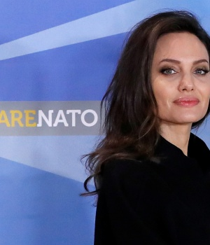 UNHCR Special Envoy actor Angelina Jolie arrives at the NATO headquarters in Brussels, Belgium
