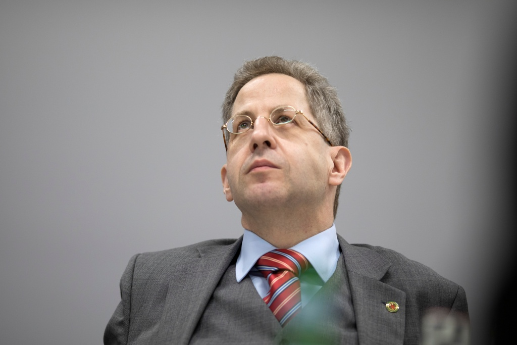 Heiko Maassen, President of the Federal Office for the Protection of the Constitution, attends a Reuters interview in Berlin