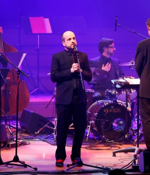 British musician performs 'Brexit Big Band' musical project at Flagey concert hall in Brussels
