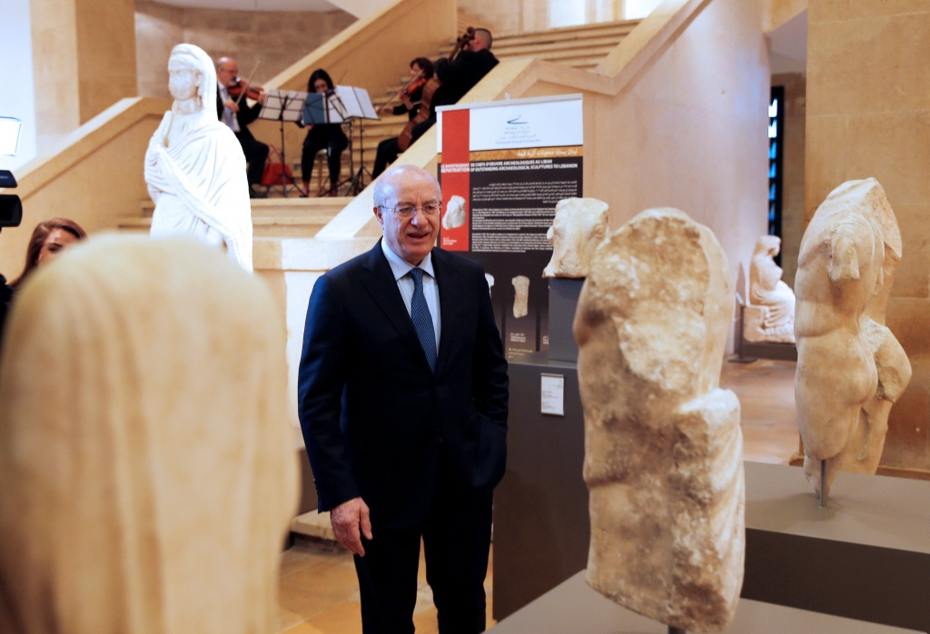 Lebanon's Culture Minister Ghattas Khoury is seen at Beirut's National Museum in Beirut